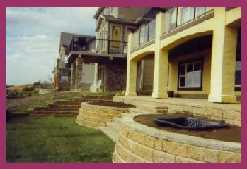 Retaining Wall with planters pic 1